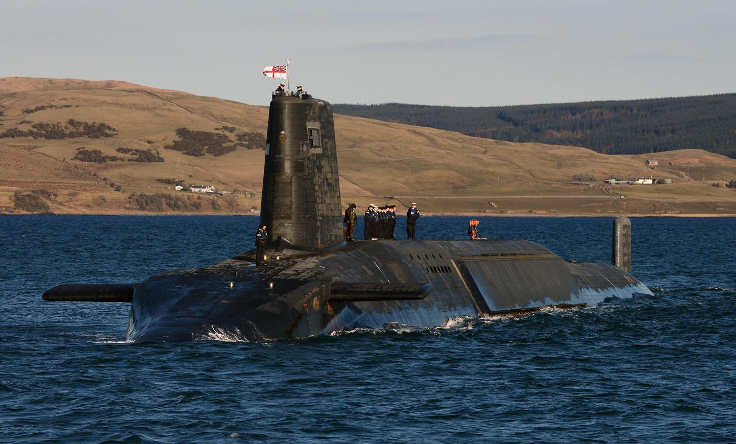 The data was gathered by Royal Navy submarines, such as HMS Victorious (Image: Ministry of Defence)