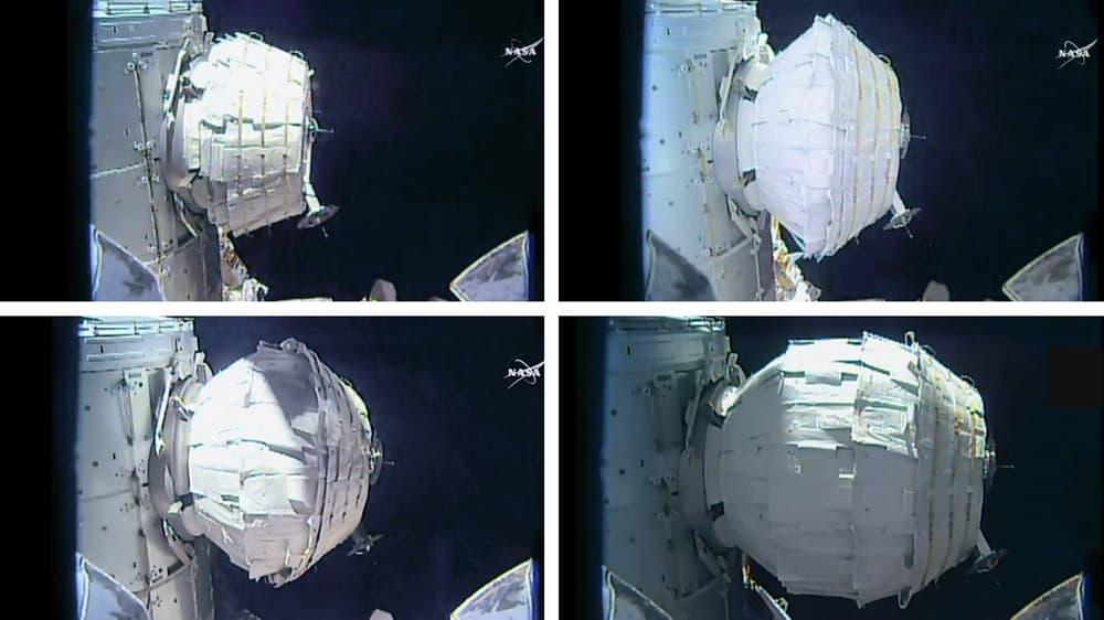BEAM was carried to the ISS by SpaceX's Dragon cargo ship on April 16