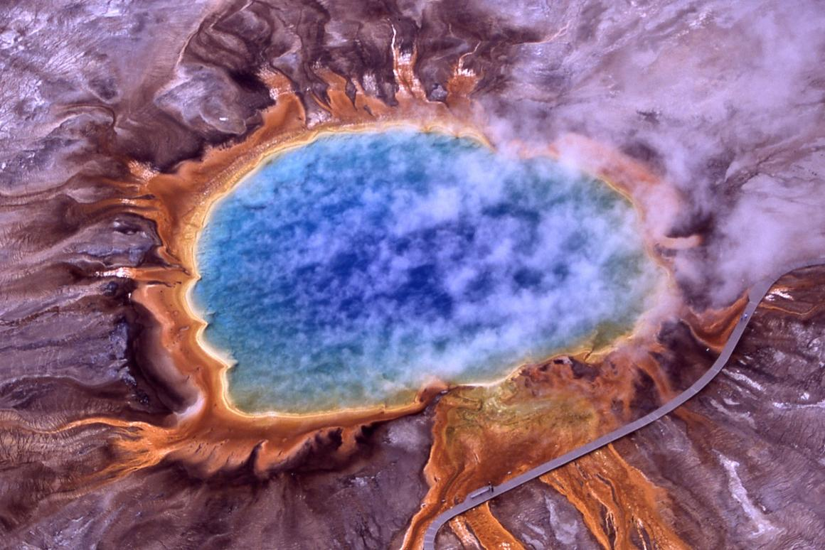 The new material was inspired by organisms that thrive in extreme-heat habitats like Grand Prismatic Spring in Yellowstone National Park