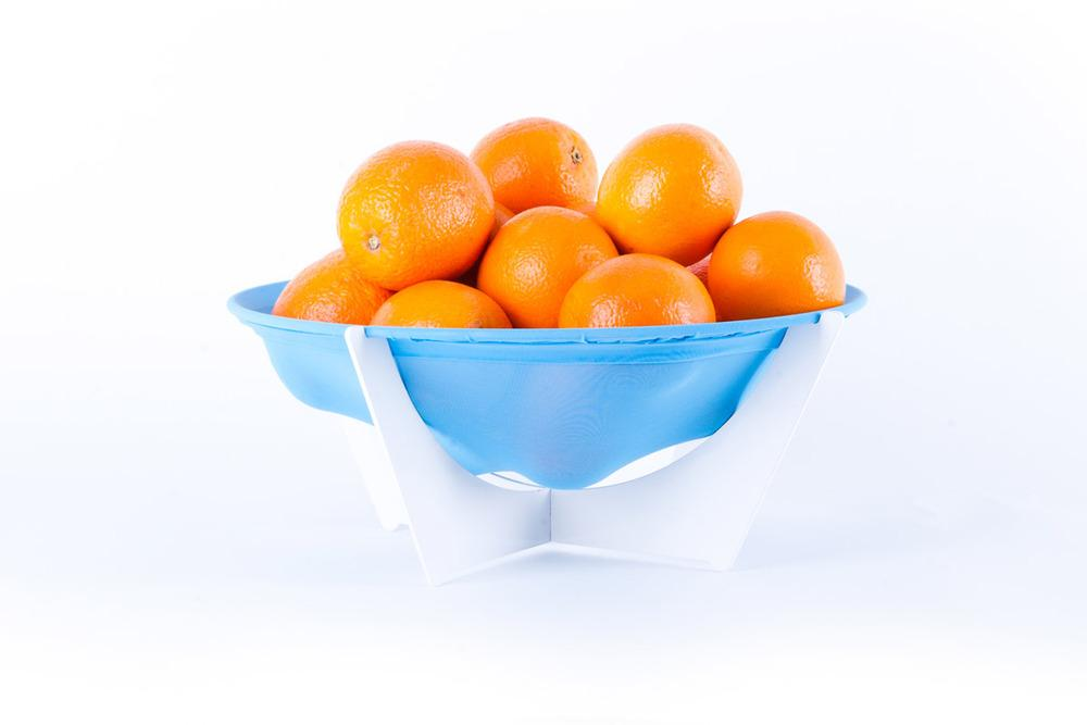 Stretchy Bowl expands as needed to accommodate more fruit, all of which should stay fresher thanks to the breathable fabric it's made from