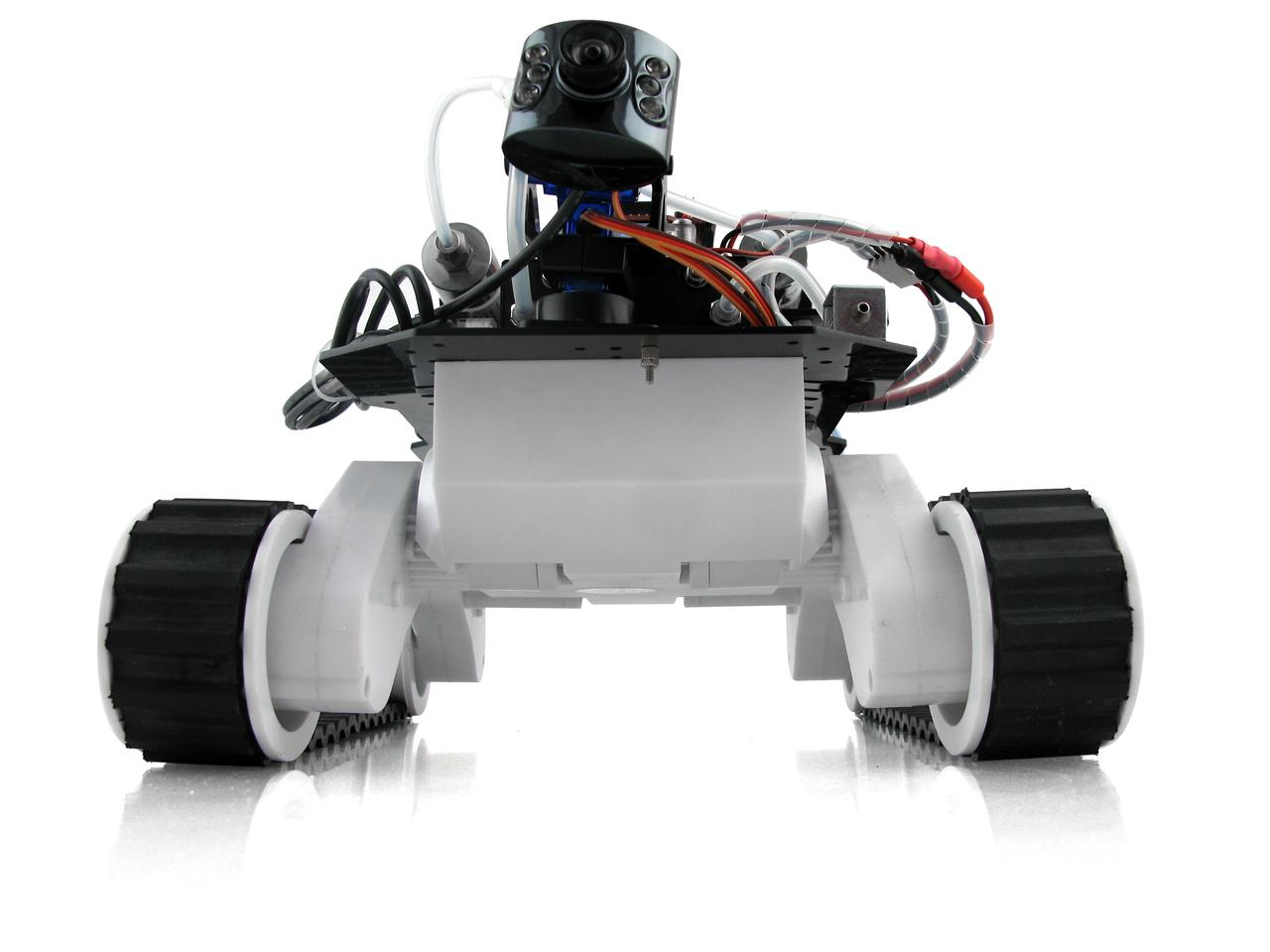 Users control the H-ROVER via their smartphone, tablet or PC, viewing a real-time video feed from its LED-equipped Bluetooth video camera