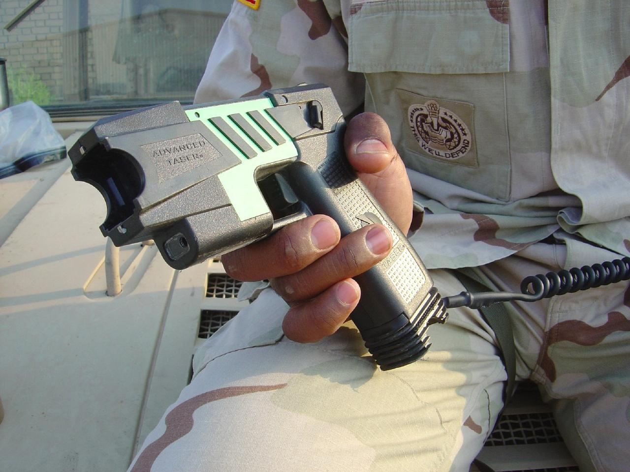 Conducted electrical weapons such as this Taser could one day record the heart rate and rhythm of their targets