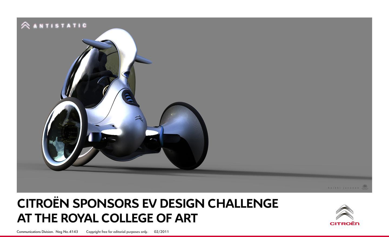 Citroen E-3POD Antistatic Concept: ultralight, micro segment electric three-wheeler