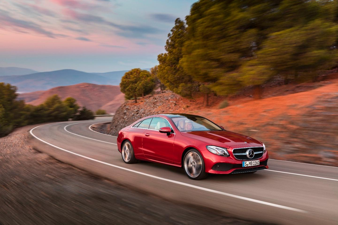 The new E-Class Coupe can be had with a diesel, or three different petrol engines