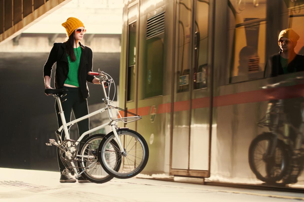 The Vello Urbano, folded for transit