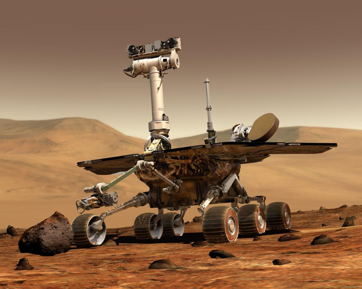 The Opportunity roveroperated for nearly 15 years and covered 28 miles (45 km)