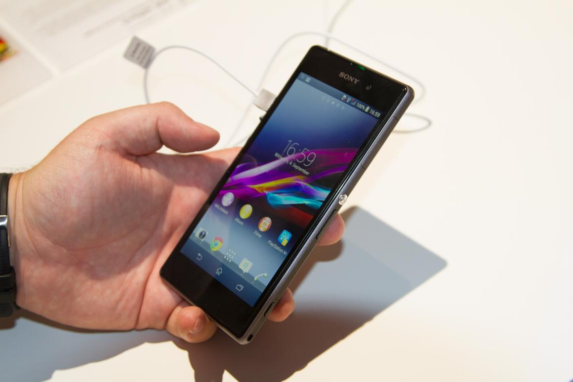 Sony's new Xperia Z1 smartphone at IFA 2013