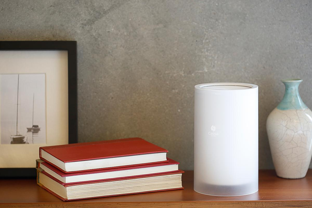 The Cassia Hub's unobtrusive size allows it to fit in small places