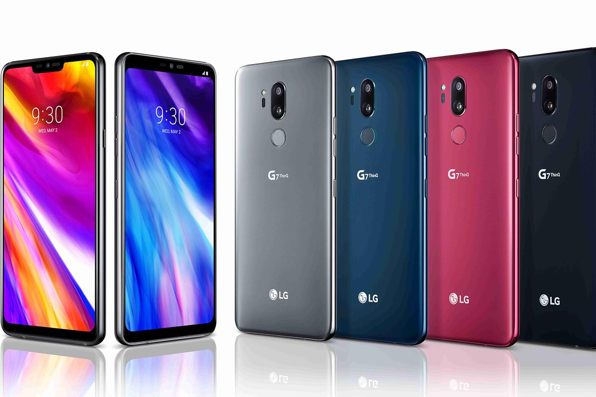The LG G7 ThinQ flagship arrives in a choice of four colors