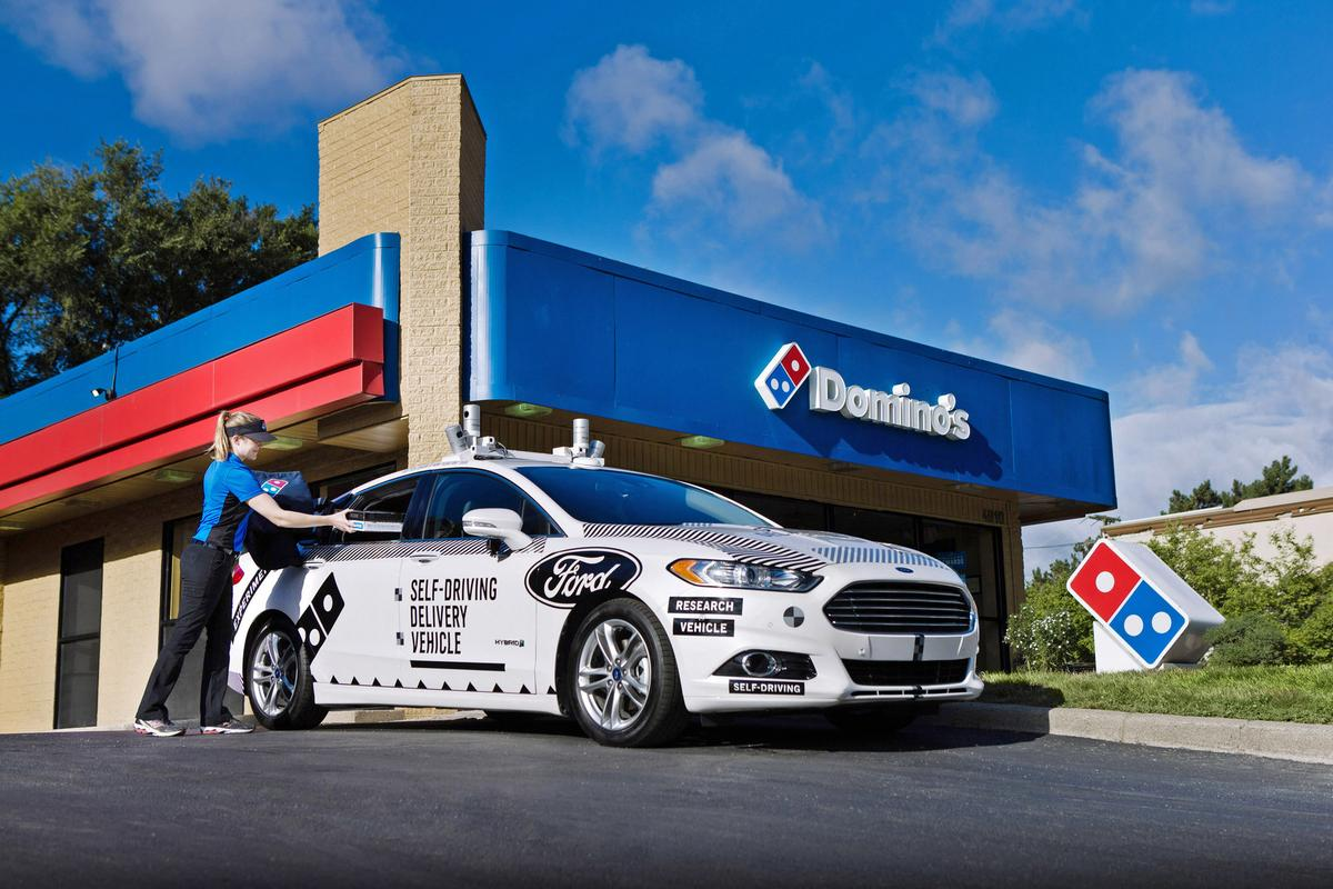 How will Domino'scustomers feel about having their pizzas delivered by a self-driving vehicle?
