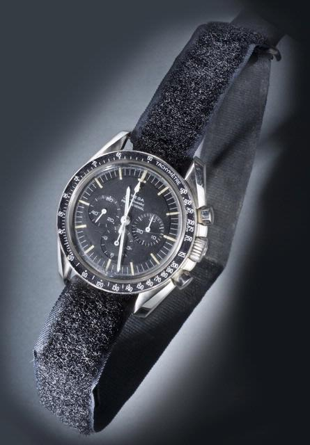 Astronaut Michael Collins wore an Omega Speedmaster Chronograph during the Apollo 11 mission