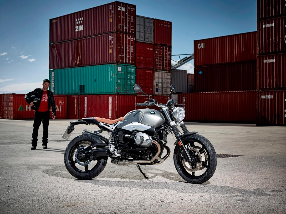 The BMW R nine T Scrambler