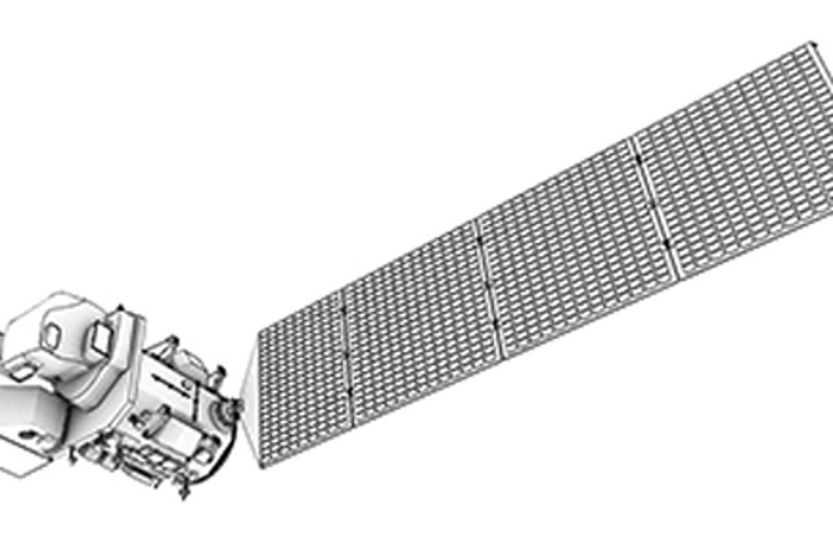 A concept drawing of LandSat 9, which is scheduled to launch in 2023 (Image: NASA)