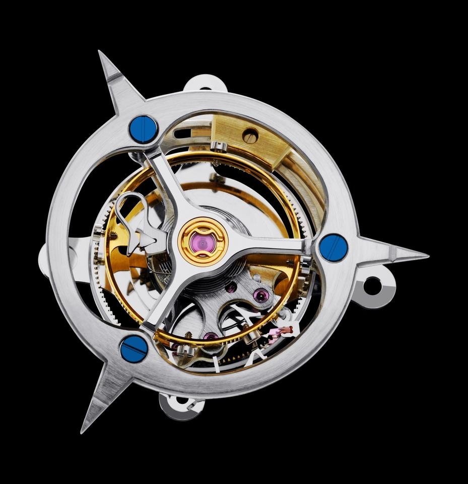 The three-minute flying tourbillon movement