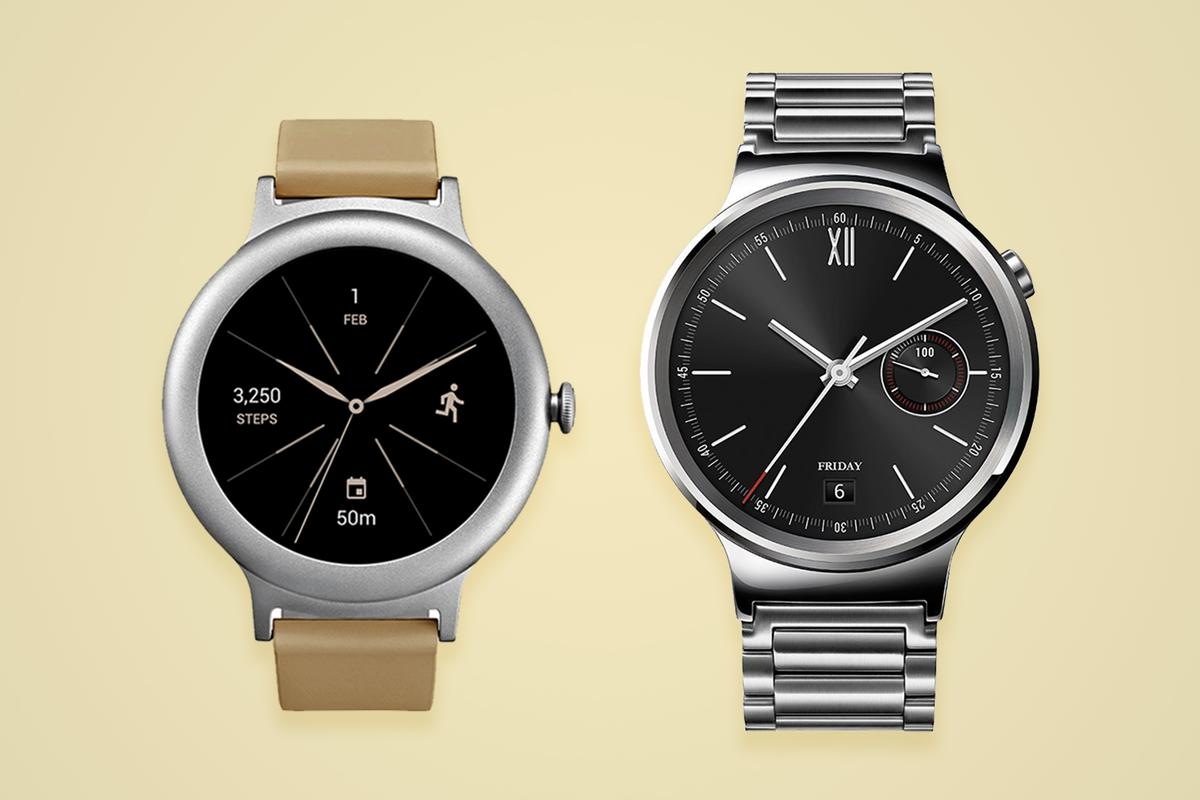 Comparing two 42 mmround smartwatches:LG Watch Style and the Huawei Watch