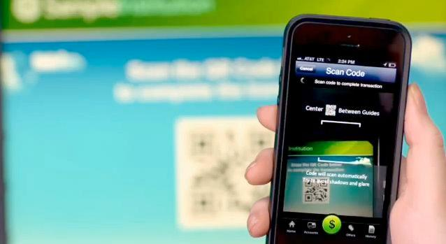 Users of the system get a QR code sent to their phone, which they scan at the ATM