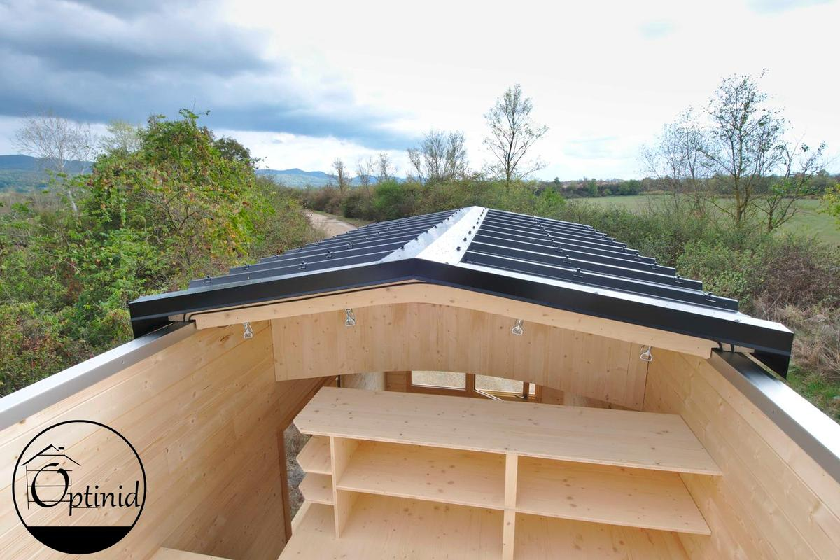 The Marie Ange's roof slides open to expose the bedroom to the elements