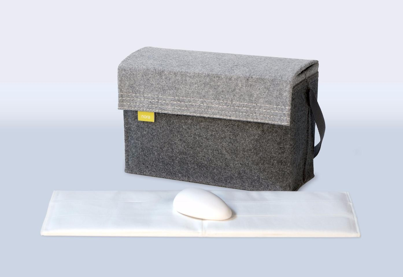 The Nora pump, mic and pillow bladder