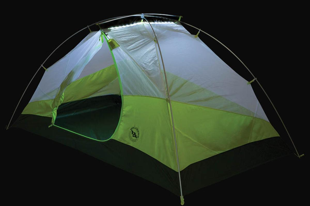 Big Agnes Tumble 2 mtnGLO features built-in LED lighting