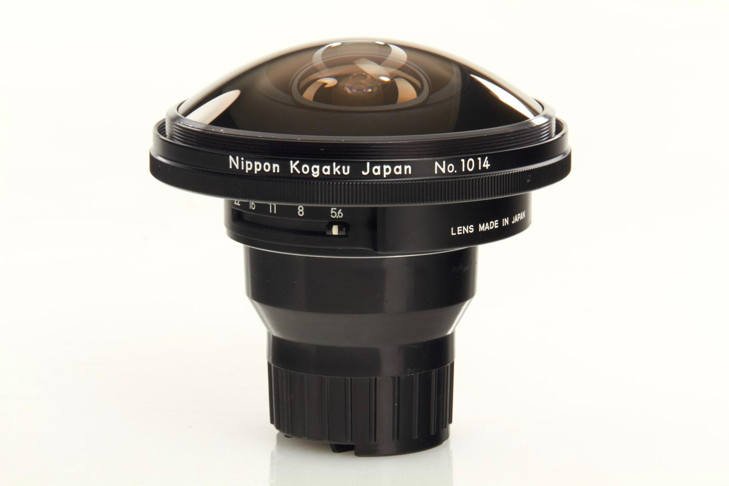 The Nikon Fisheye Nikkor F5.6 6.2-mm SAP is expected to fetch up to US$50,000 at auction