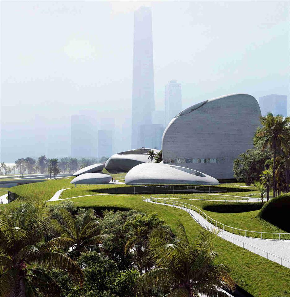 Парк культуры залива Шэньчжэнь будет занимать площадь 51 000 кв. М (примерно 550 000 кв. Футов).