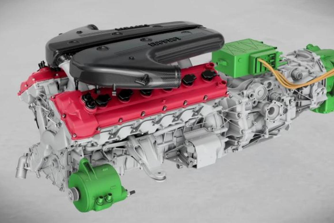 The HY-KERS system uses two electric motors plus energy recovery to provide more power and less CO2 emissions