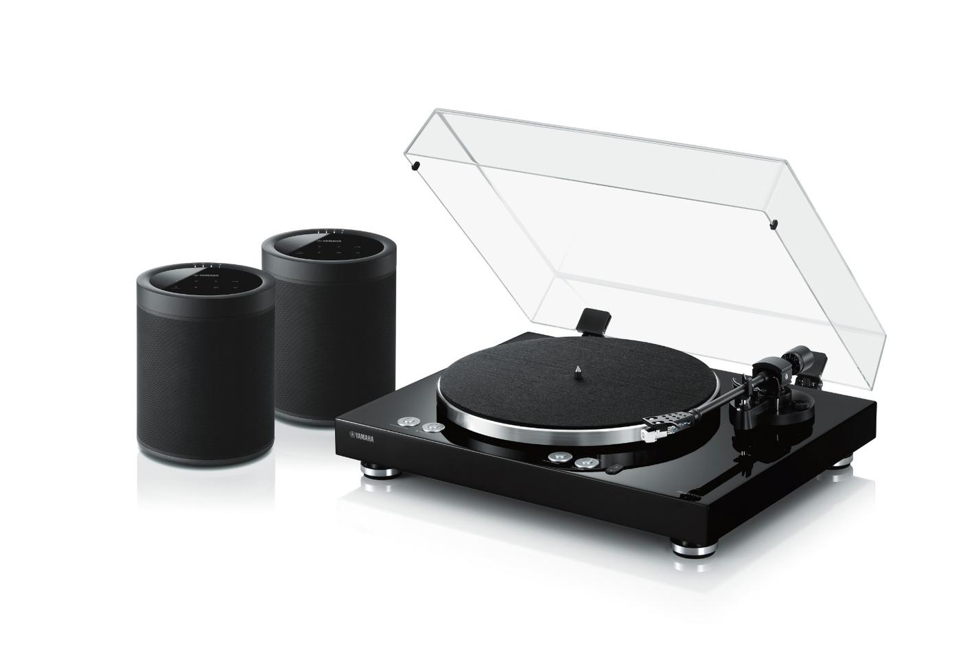 The Vinyl 500 turntable can wirelessly stream to Yamaha's MusicCast speakers