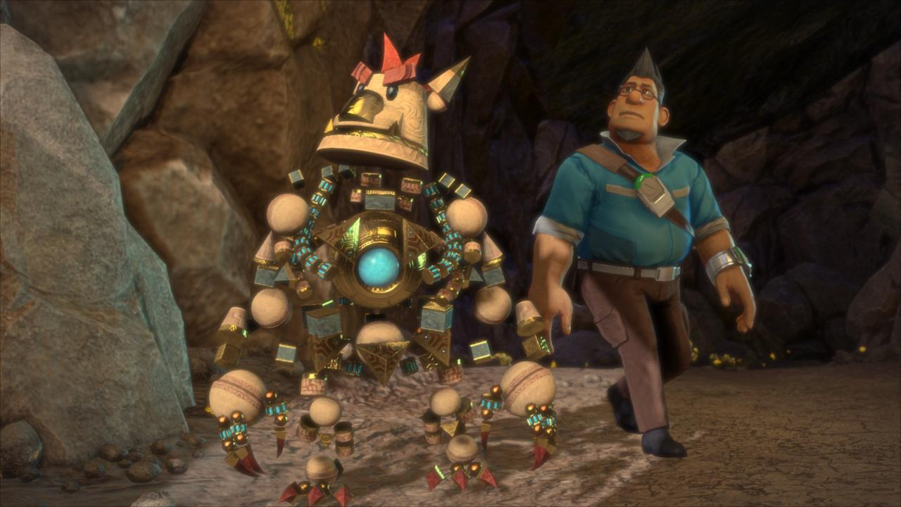 Knack focuses on the titular character, a magical entity that absorbs and drops thousands of objects to change its size, allowing the PS4 to show off its beefed-up processing power