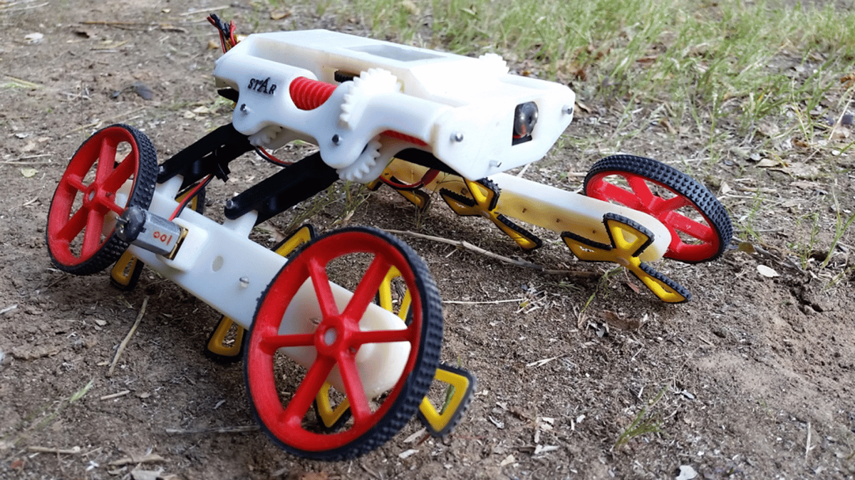 """The RSTARprototype, with its """"off-road"""" spoked wheels ready to take on rough terrain"""