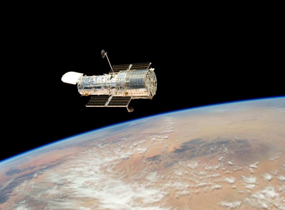 The Hubble Space Telescope, imaged in orbit by the crew of the Space Shuttle Atlantis in 2009 (Photo: NASA, STScI)