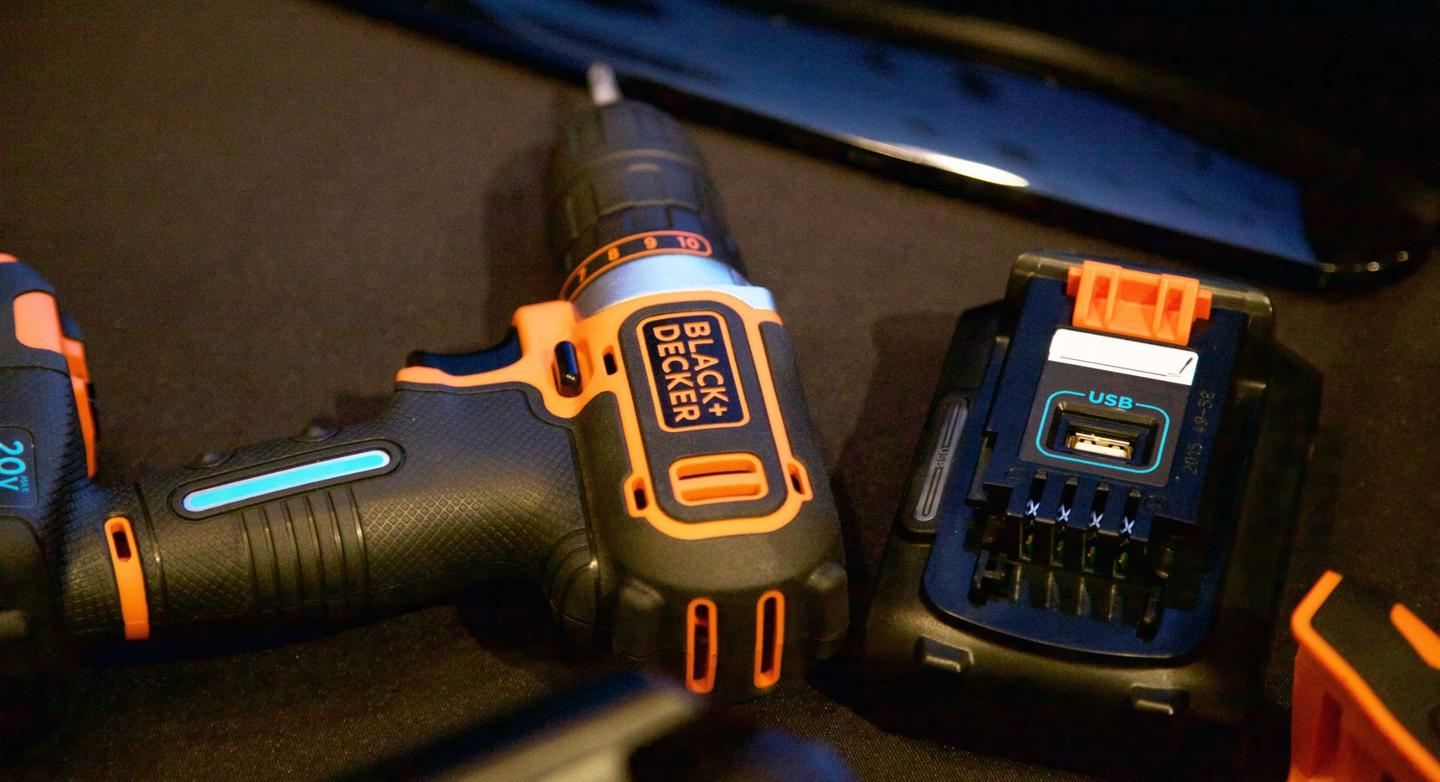 Black+Decker is launching Smartech battery technology, which will allow tool users to remotely check on battery info via a mobile app