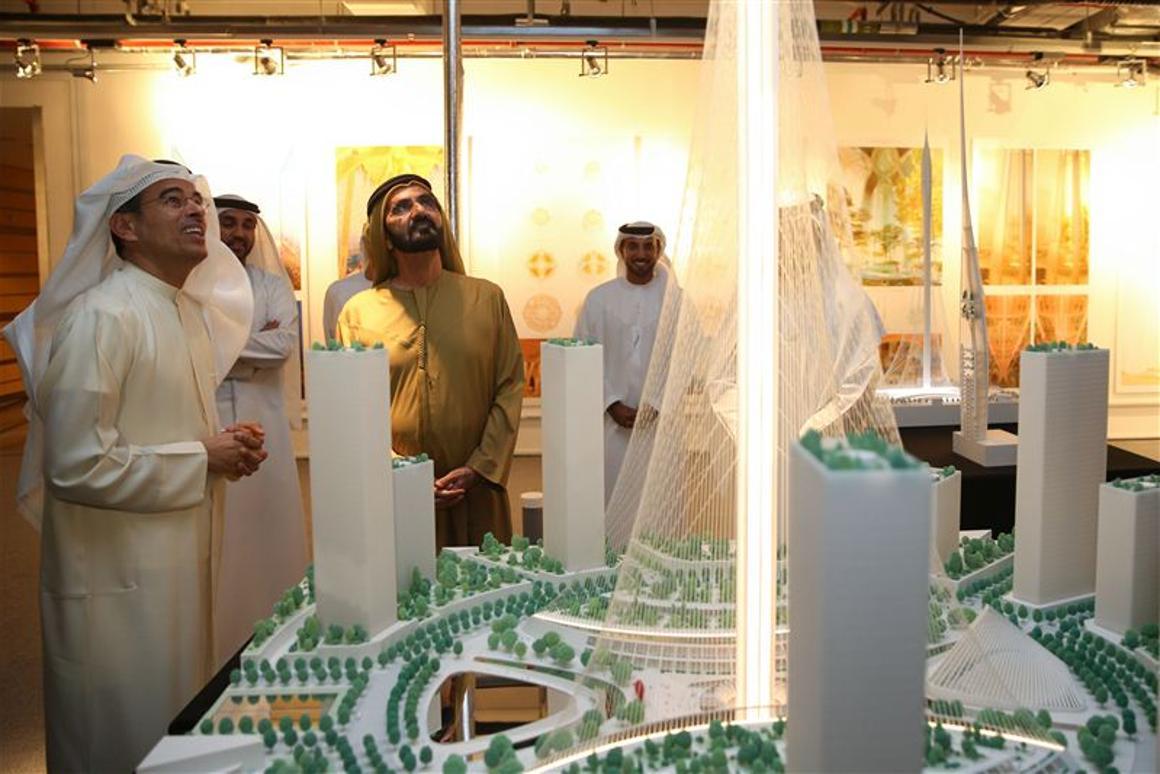 His Highness Sheikh Mohammed bin Rashid Al Maktoum has approved the selection of a design by the Spanish/Swiss neo-futuristic architect Santiago Calatrava