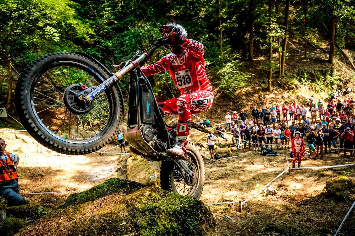 Loris Gubian, won the 2018 Trial-E Cup on his Gas Gas eContact