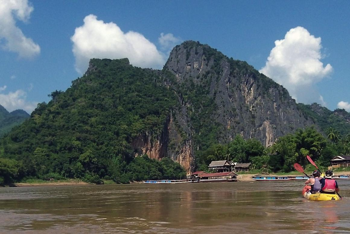 The end of the kayak journey at Pak Ou just outside Luang Prebang. My arms were looking forward to getting to the other side of the river, but a piece of my heart was left with these gentle, kind and chilled-out people and I fear for their future.