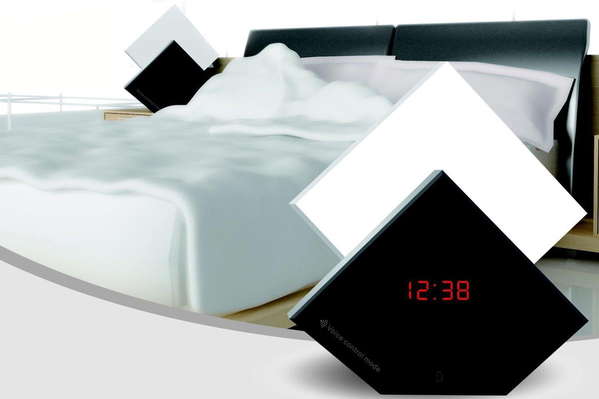The Aurora Wake-Up Light is an alarm clock with an illuminated section that actually rises like the sun