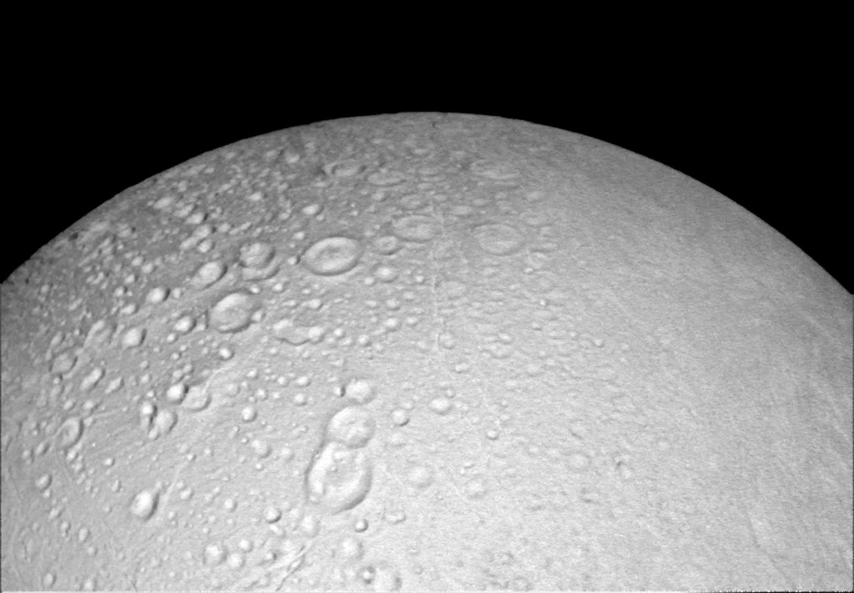 Enceladus' north polar region captured on Oct. 14