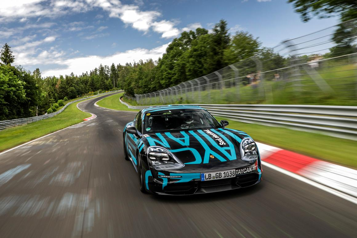Porsche Taycan claims electric record at Nurburgring