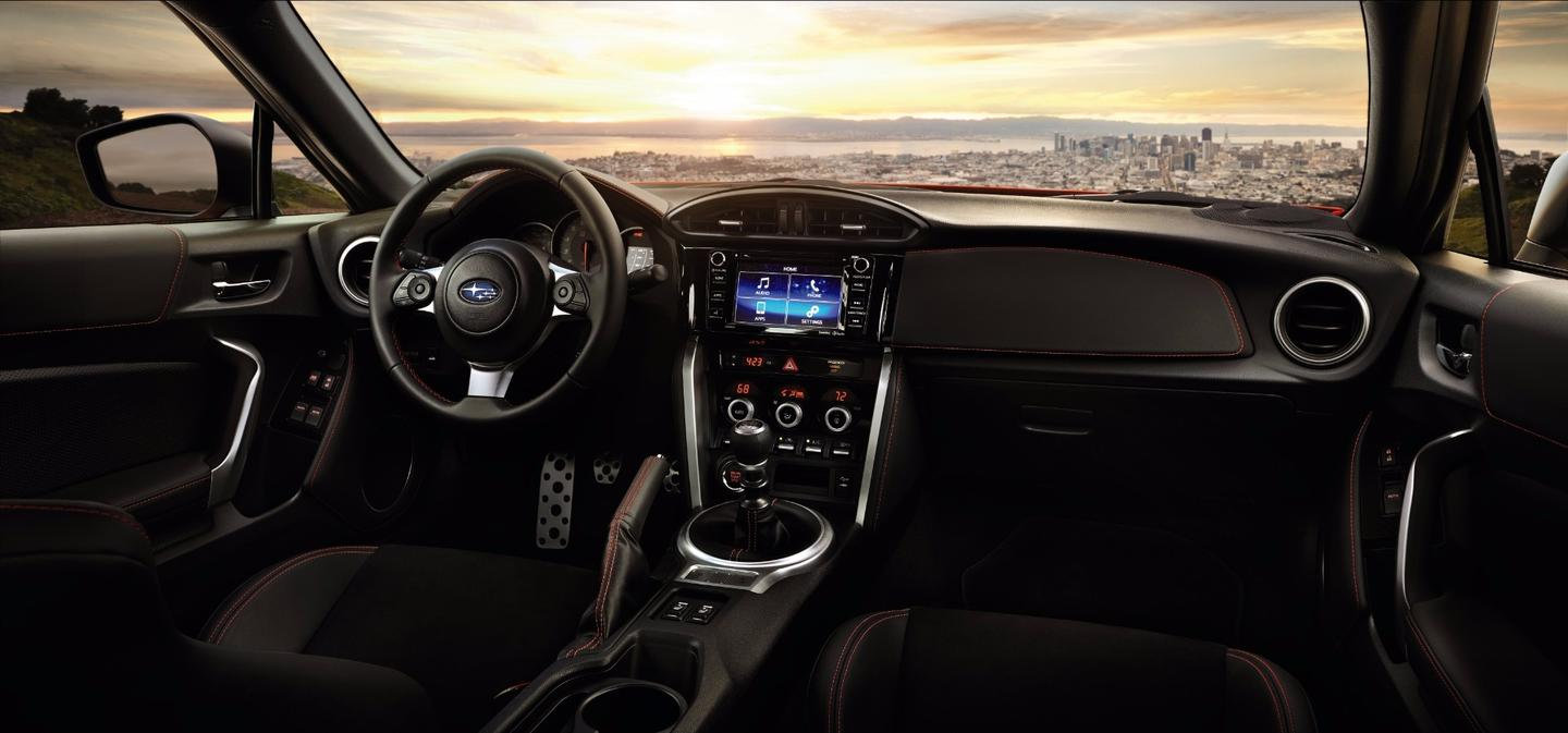 The BRZ cabin has been given an improved infotainment system