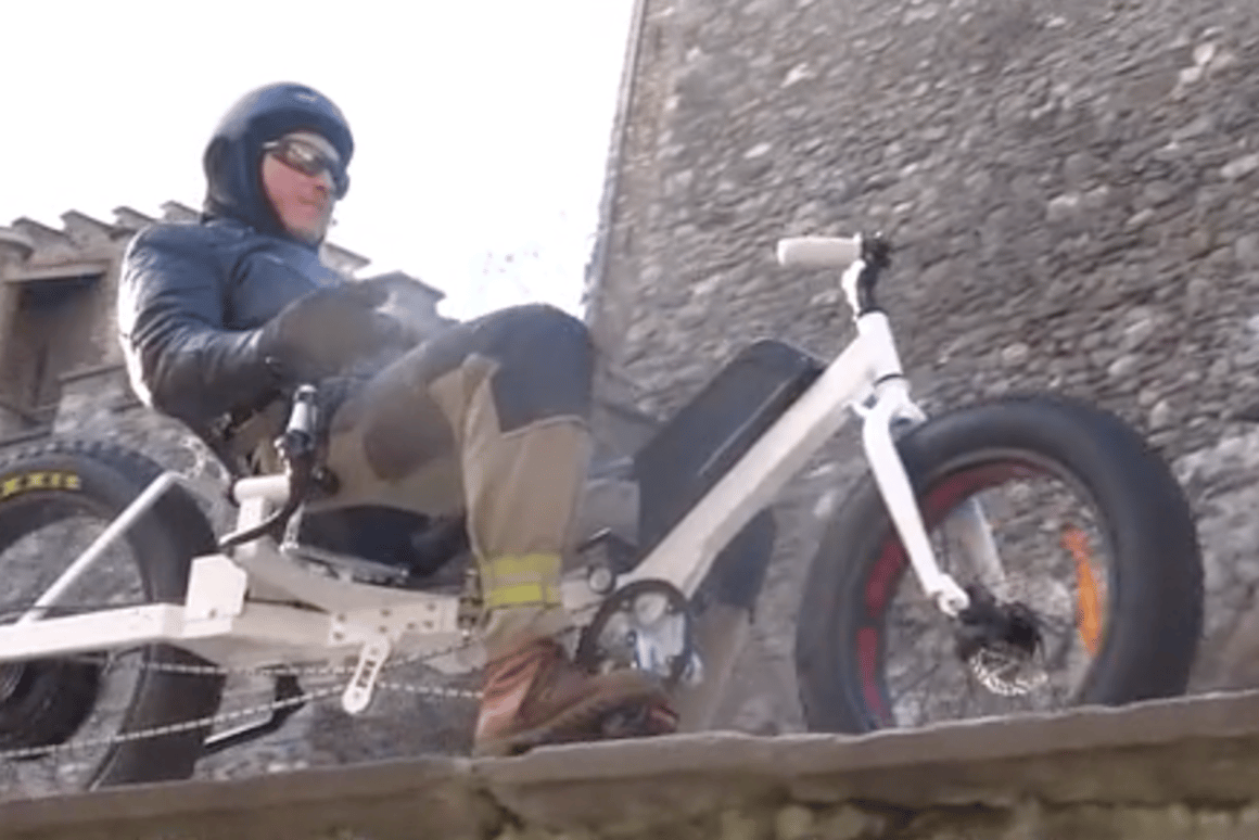 The Joystickbike ditches the handlebars in favor of a joystick