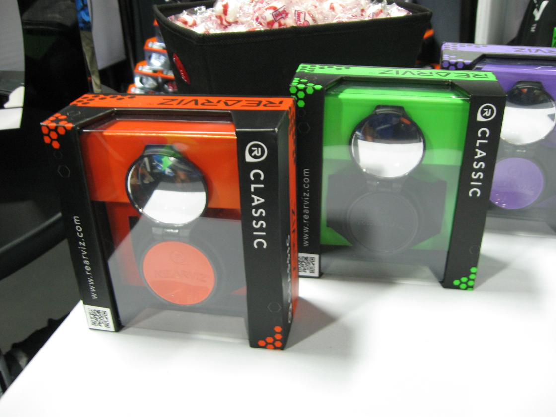 The RearViz mirror is available now in a variety of colors, with pricing starting at US$33