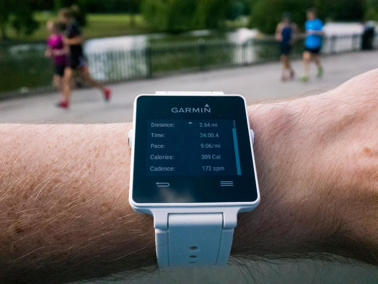 The Garmin vivoactive can monitor a range of exercise specific data whether running, swimming or playing golf
