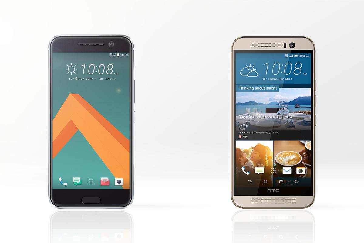We line up and compare the new HTC 10 (left) with last year's flagship, the One M9