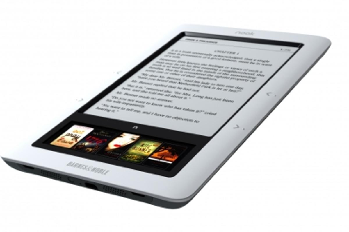 Barnes & Noble nook e-Reader with 6in reading pane and 3.5in touchscreen color navigation pane