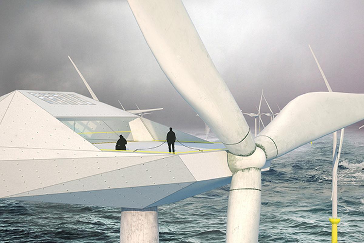 Morphocode's offshore wind turbine loft concept (Image: Morphocode)