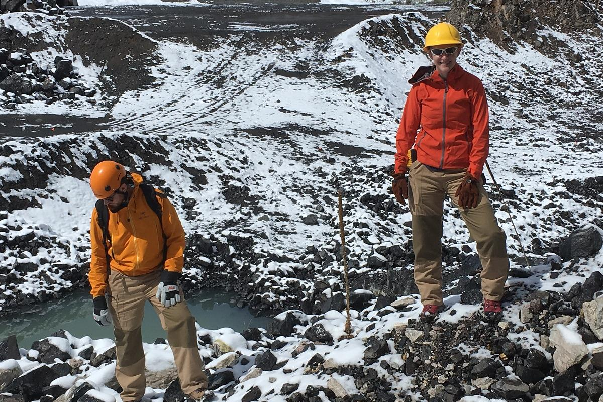 A team of graduate students in the MU Department of Geological Sciences field tested the new lava suits during a recent research trip to Colorado
