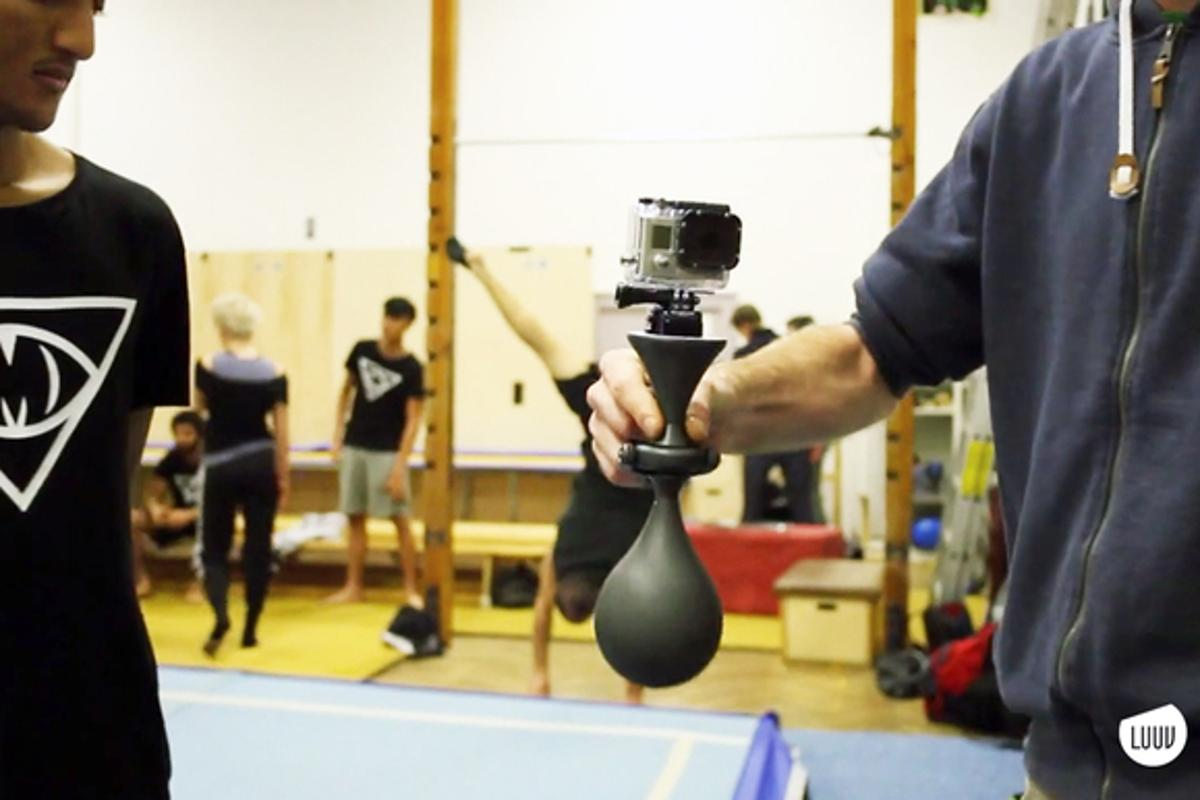 The Luuv works with a number of smartphones and small camcorders, including the GoPro Hero