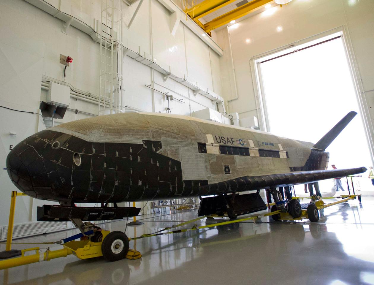 The X-37B features a similar design to the Space Shuttle but is around a quarter of the size of that craft