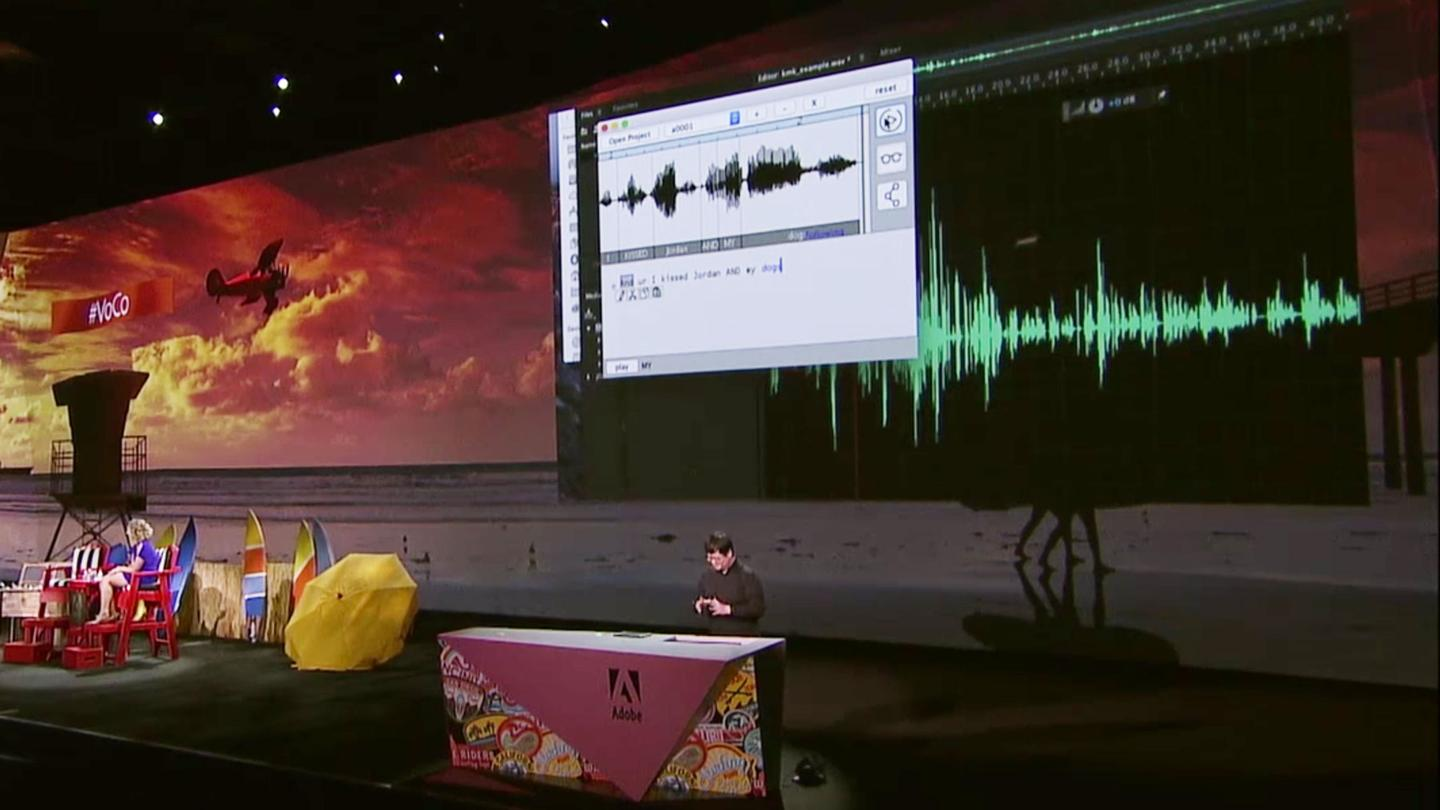 Adobe's experimental Project VoCo isPhotoshop for recorded speaking voices