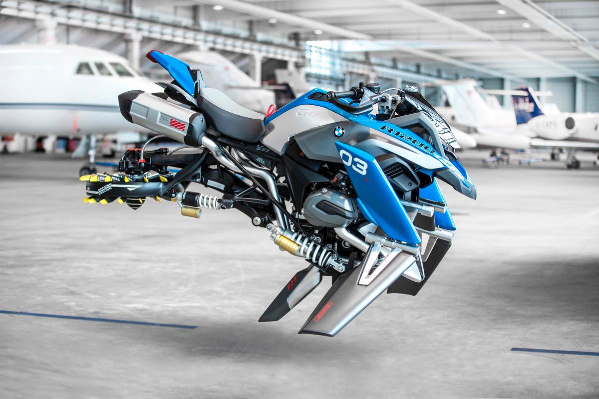 The Hover Ride, picturedin a hangar – no, it doesn't actually float in mid-air