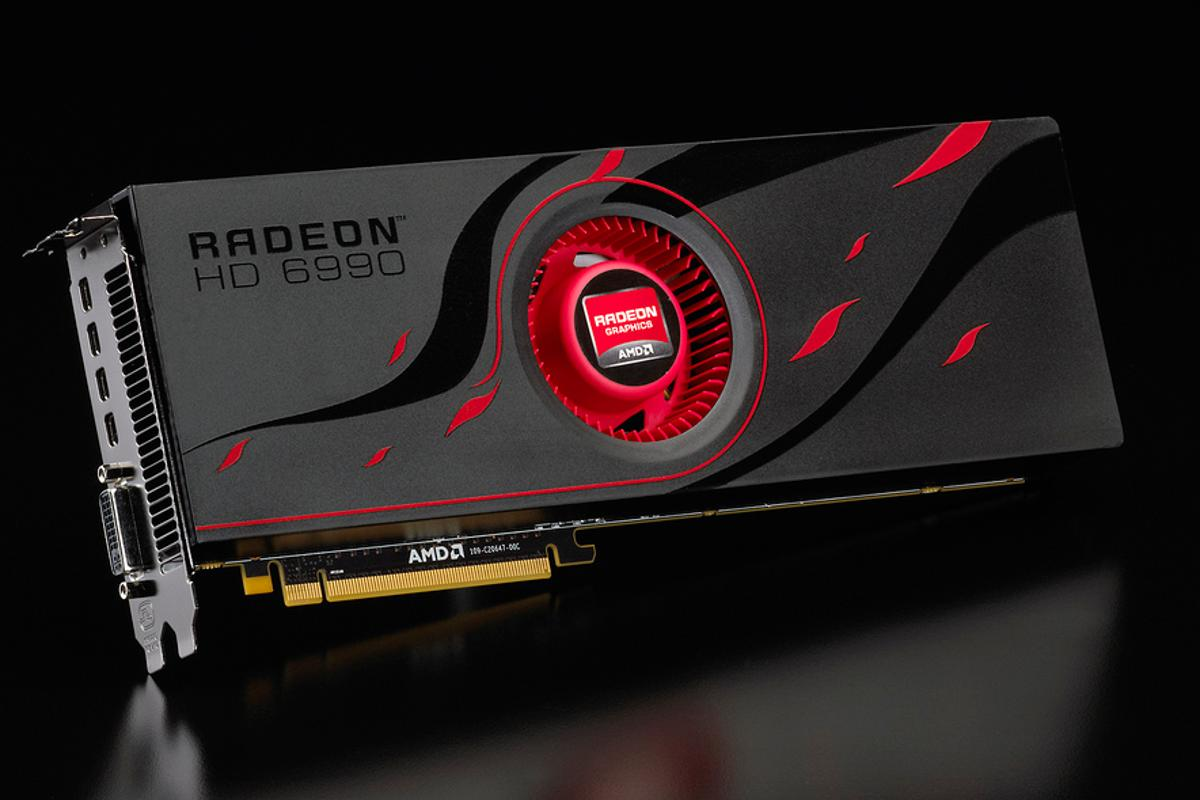 The new Radeon HD 6990 GPU from AMD is claimed to be the fastest single graphics card in the world